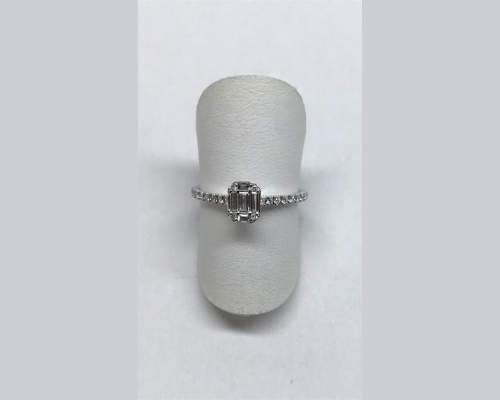 Brillant Ring in Weissgold
